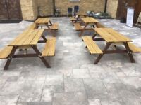 Solid treated picnic bench