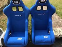 Omp trs e blue bucket seats not cobra