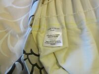 'VITTORIO*GOLD*JACQUARD*DAMASK Pair of beautiful, lined Laura Ashley Curtains, excellent condition