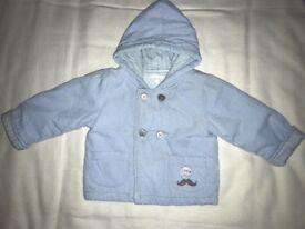 Zip Zap baby Blue jacket Size 9 months