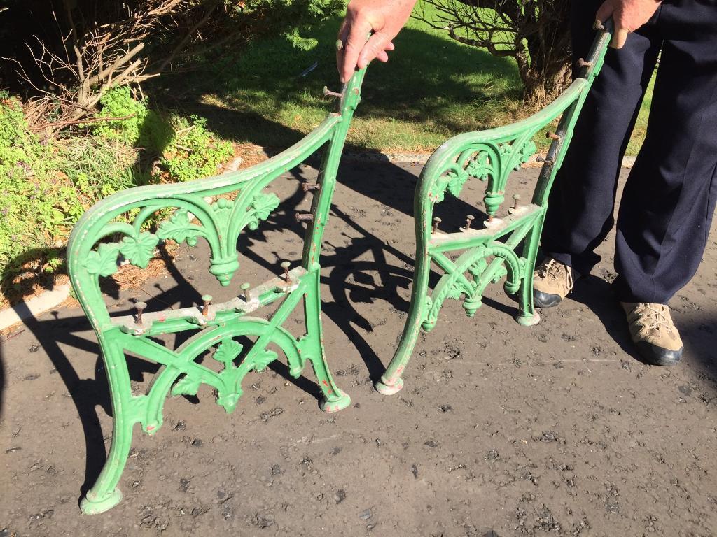 Antique cast iron seat ends newcastle