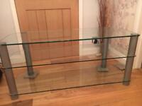 FREE TO COLLECTOR GLASS TV UNIT IN EXCELLENT CONDITION