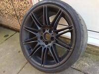 "19"" Genuine MV4 REAR Alloy Wheel 3 5 Series M Sport E92 F30"