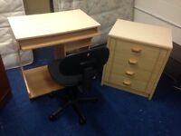 4 drawer deep chest/desk and swivel chair