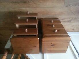 pair of bedside tables - real pine