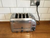 Stainless Steel Dualit four-slot toaster
