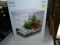BIORB FLOW 15 LITRE WHITE FISH TANK / AQUARIUM - AS NEW IN BOX