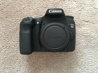 Canon 70D body with EFS 10-18mm lens and ND filter pack