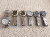 Collection of six new quartz watches