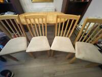 Adjustable 4/6 dining table with 4 chairs