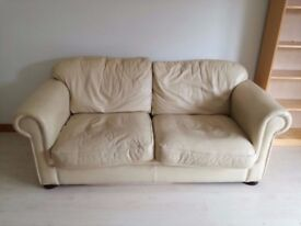 Cream sofa bed DFS collection only from Finnieston