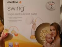 Medela single electric breast pump. Brand new, item still in box never used