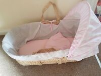 Moses Basket - pink