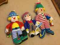 3 large crochet/ knitted stuffed dolls COLLECTION ONLY