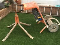 cement mixer 240v with stands without drump,the Mixer Gearbox might need replacing