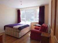 NO FEES >>> Large double room available 3mins by walk to Bow Road Tube Station ZONE 2 <<<