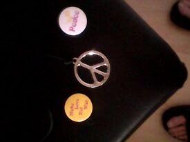 Original CND Medalion and badges