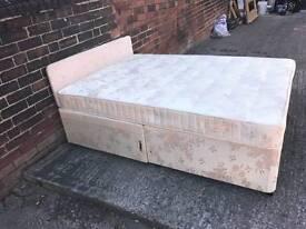 Double devan bed with mattress