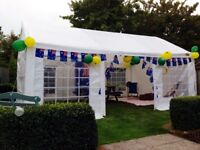 Gala tent marquee 6x4m used once immaculate condition