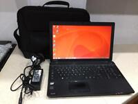 Toshiba Laptop, windows 8.1, 500GB HDD, 3GB RAM