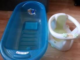 Bath tub and bath seat
