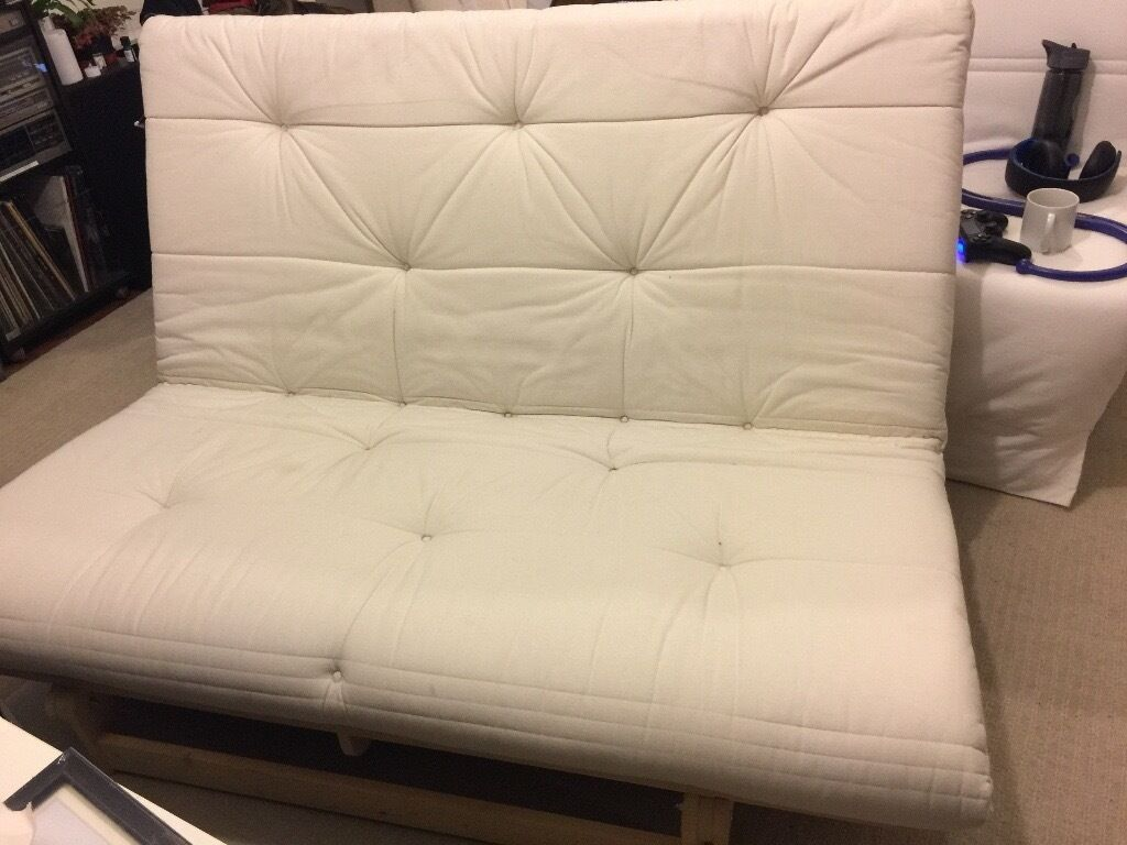 Double Futon Ikea Grankulla Bed Sofa Frame Mattress Good Condition