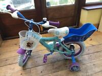 Girls frozen bike