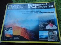 national geographic earthquakes and volcanoes experiment kit NEW IN BOX