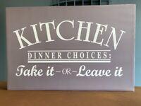 Slogan Kitchen Canvas