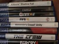 For sale- all these PS4 games in Great condition for a very cheap price