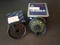 Okuma feel the power trout fly reel with floating line 7/8