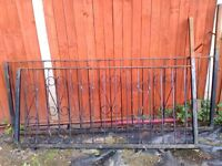 used wroughtiron fencing and gate