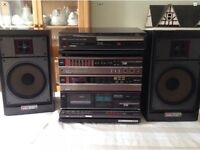 AIWA VINTAGE HIFI AMP SPEAKERS AND TUNER WORK SPARES OR REPAIRS