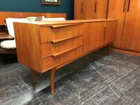 Long Sleek Sideboard by McIntosh of Kirkcaldy. Retro Vintage Mid Century