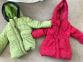 Excellent condition coats aged 2-3 years