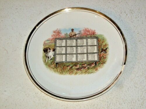 1911 Calendar Plate Chicago IL (3336 West Belmont) Hunting Motif Exc Condition