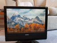 """19"""" LCD TV HD Ready Digital Freeview & DVD Player & Stand"""