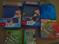 6 Travel Games (Connect 4, Battleships, Snakes/Ladders, Monopoly Deal, Knex set and Rush Hour)