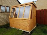 POTTING SHEDS HEAVY DUTY NEW FANTASTIC VALUE. DELIVERY AND FITTING INCLUDED IN WITH THE PRICE.