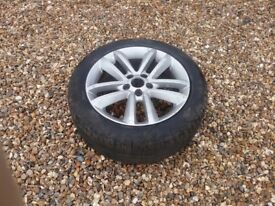 x1 silver low profile alloy and tyre in good condition 17 inch £25
