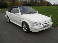 1988 FORD ESCORT XR3i CABRIOLET MK4 IN MINT CONDITION RECONDITONED ENGINE & GEARBOX STUNNING CAR