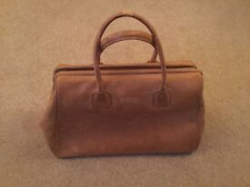French Camel Coloured Leather Handbag
