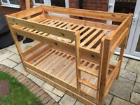 Bunk bed frame set or two twin bed frames with extras