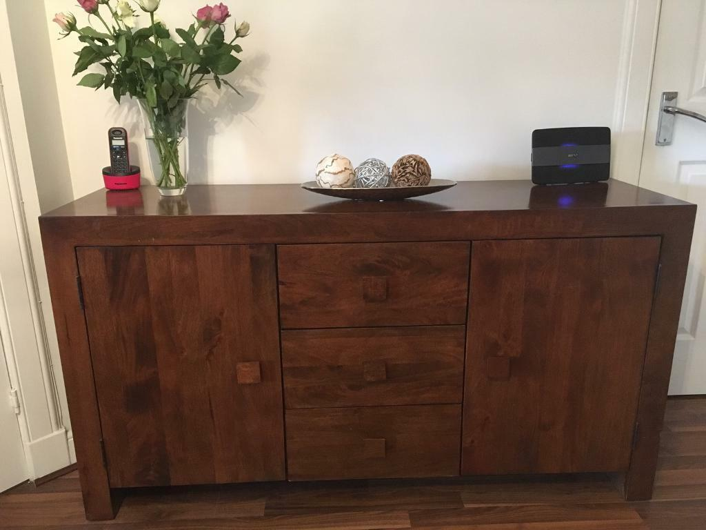 Mango Wood Bedroom Furniture Sideboard Tv Unit And Coffee Table With Side Tables Dark Mango