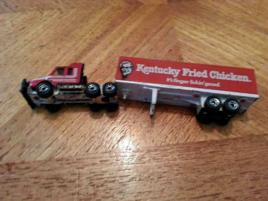 Kentucky Fried Chicken Matchbox Trailer and Truck