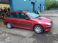 Peugeot 206 sw breaking for spares