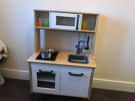Kids IKEA wooden kitchen