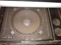 2x HH Audio bass unit - bass bin - subwoofer speaker