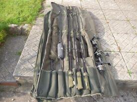 THREE CENTURY ARMALITE SP 12FT 3.TC RODS&THREE DIAWA WINDCAST X5500 REELS