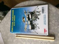 Drumming book and sticks